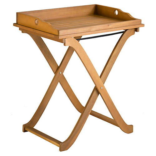 Covina Tray Side Table, Natural