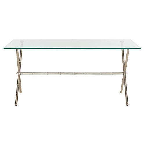 Pratt Modern Coffee Table, Silver