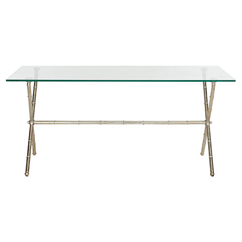 Pratt Modern Coffee Table, Silver