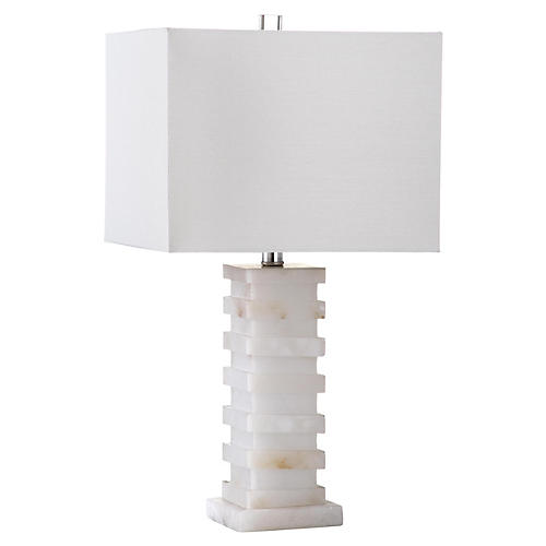 Thebes Table Lamp, Alabaster