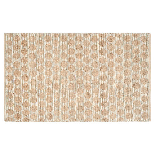Aria Jute Rug, Gray/Tan