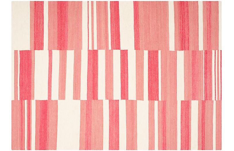Arlin Flat-Weave Rug, Pink/Ivory