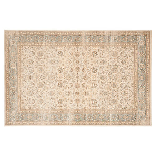 Lopa Rug, Ivory/Light Blue