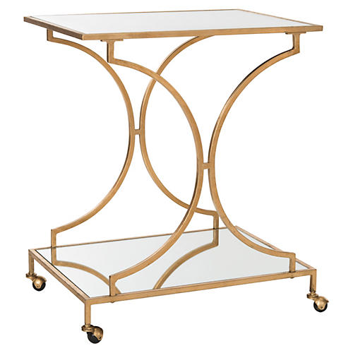 Ivanna Bar Cart, Gold