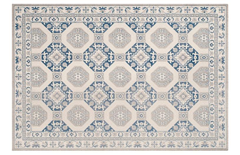 Daly Rug, Blue/Ivory