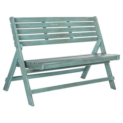 Gabelli Folding Bench, Aqua