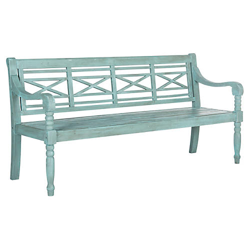 Outdoor Betsey Bench, Teal