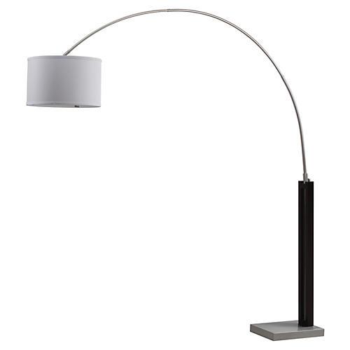 Cassiopeia Arc Floor Lamp, Nickel