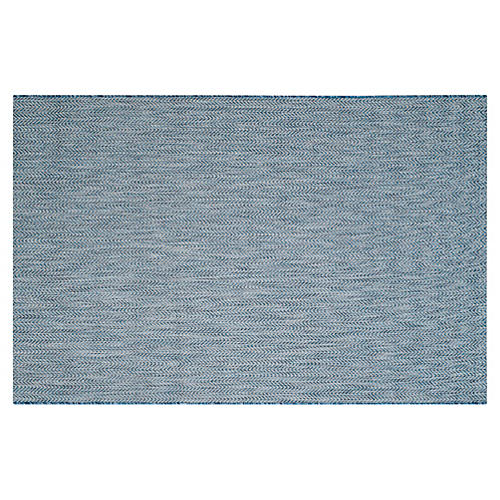 Abel Outdoor Rug, Navy