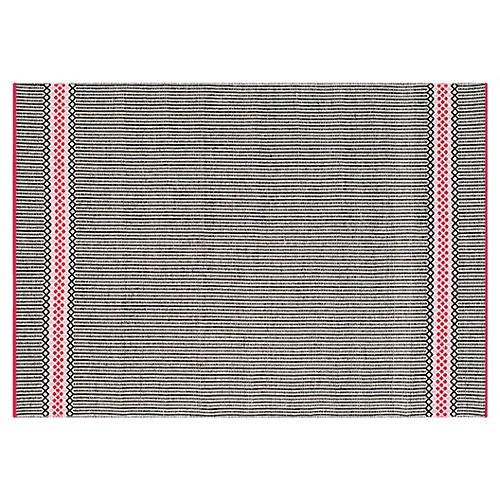 Heather Flat-Weave Rug, Light Pink/Multi
