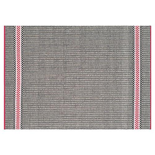 Heather Flat-Weave Rug, Light Pink/Multi