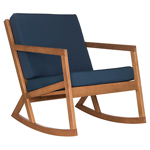 Outdoor Lindsey Rocking Chair, Navy
