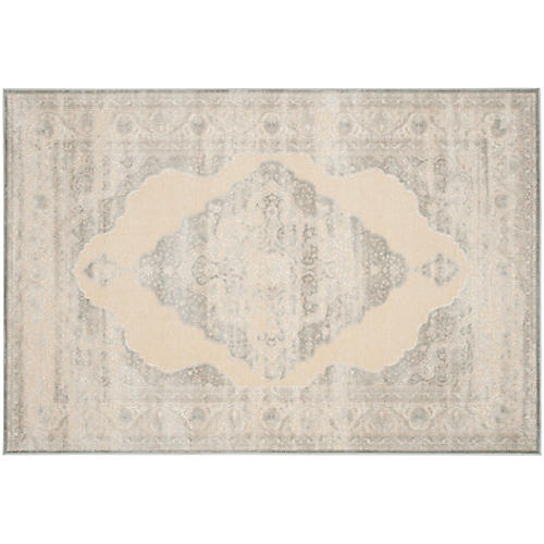 Joe Overdyed Rug, Gray/Gold