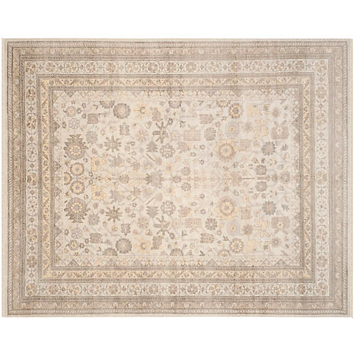 Laura Hand-Knotted Rug, Ivory