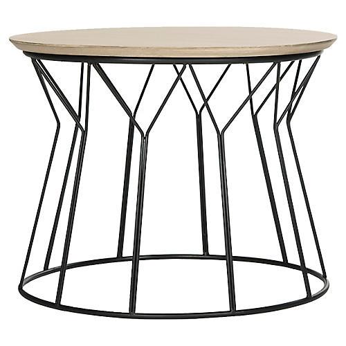 Ditmar Side Table, Natural/Black