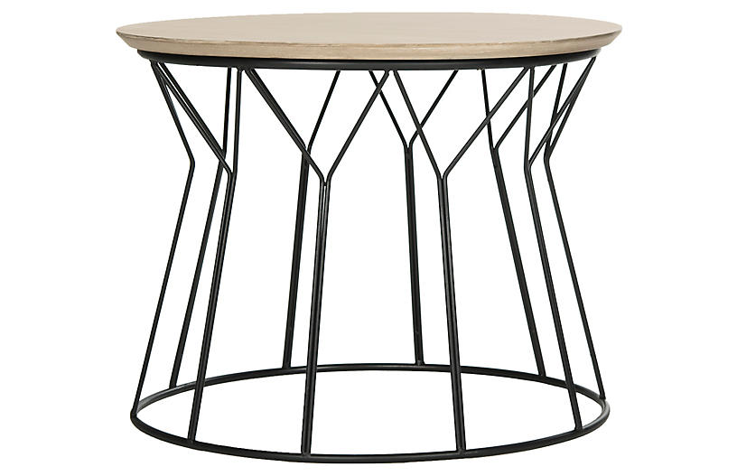 Ditmar Small Coffee Table, Natural/Black