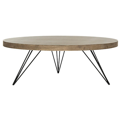 Maglie Coffee Table, Natural/Black