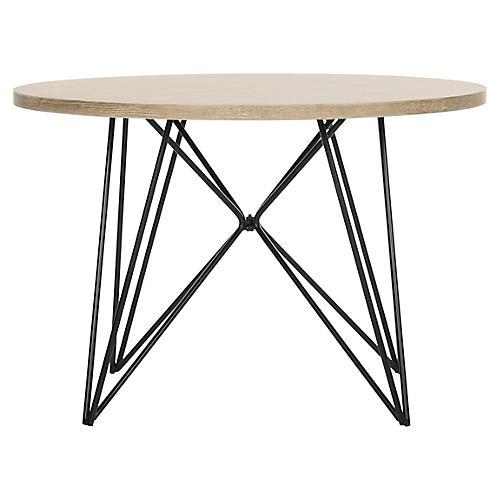 Enos Side Table, Natural/Black