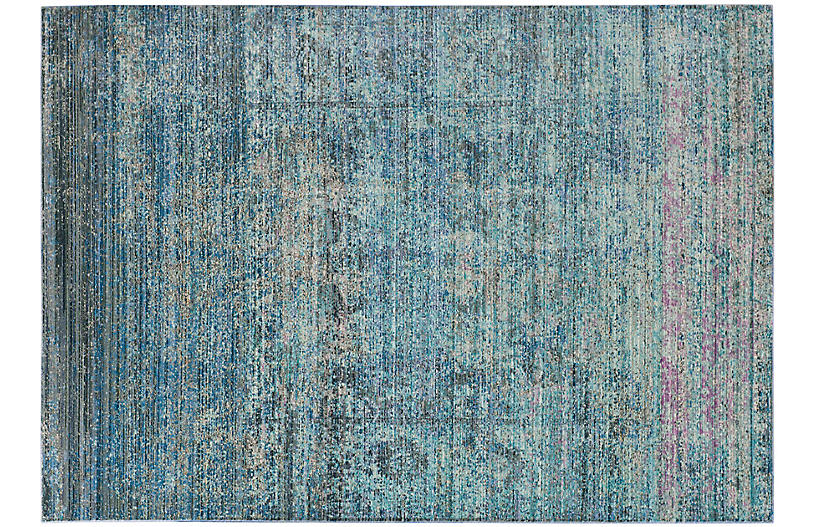 Passic Rug, Blue/Multi