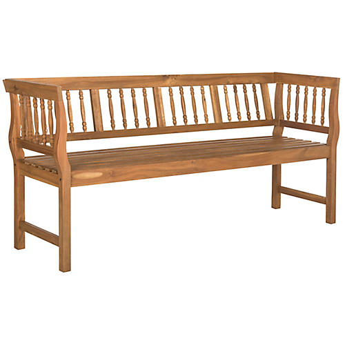 Bailey Outdoor Bench, Natural