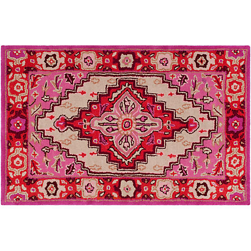 Zad Rug, Red Pink/ Ivory