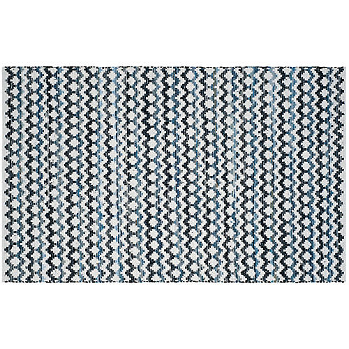 Xandy Rug, Blue/Black