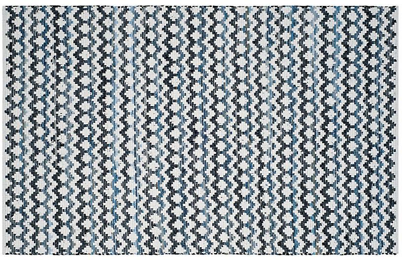 Xandy Rug, Blue/Black