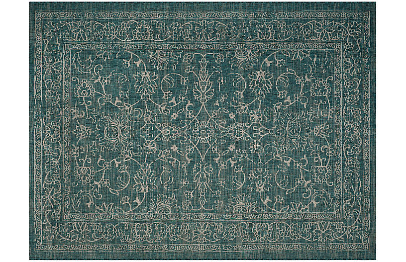 Telesto Outdoor Rug Turquoise Light Gray Outdoor Rugs Rugs