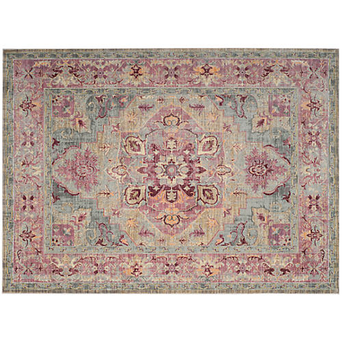 Whistlewood Rug, Grape/Blue