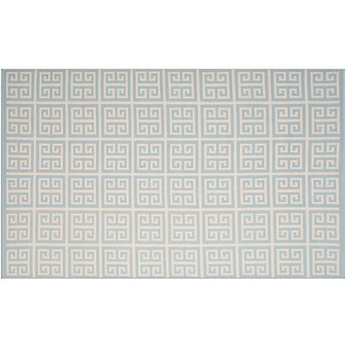 Grahaniya Rug, Light Blue/Ivory
