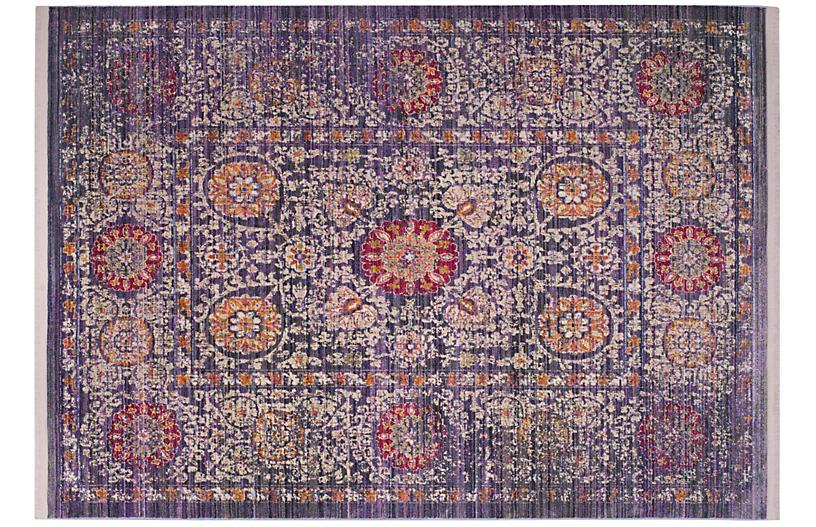 Zuzanny Rug, Lavender/Ivory