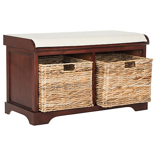 Candela Storage Bench, Cherry