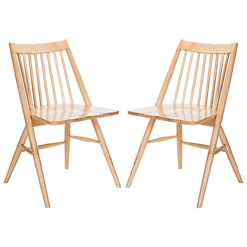 S/2 Bledsoe Side Chairs, Natural