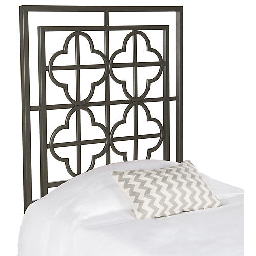 Sania Headboard, Gunmetal