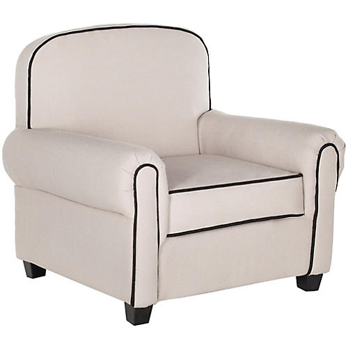 Hess Kids' Club Chair, Taupe Linen