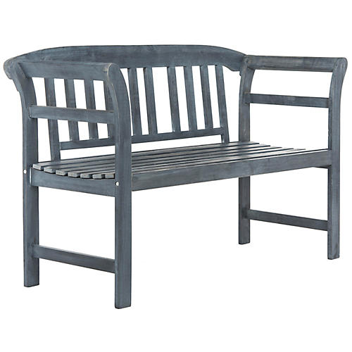Marner Outdoor Bench, Ash Gray