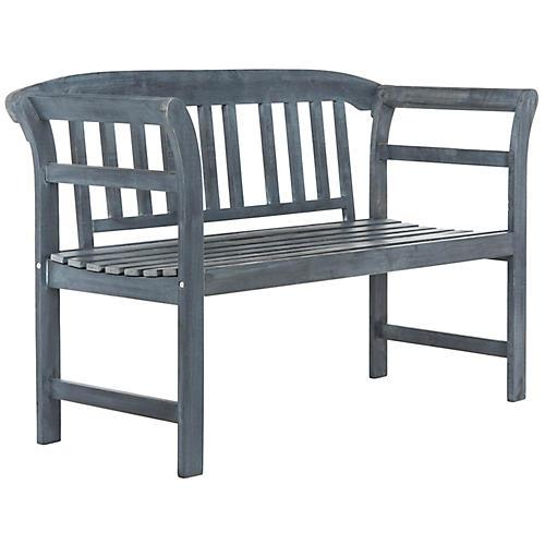 Marner Outdoor Bench, Ash Gray