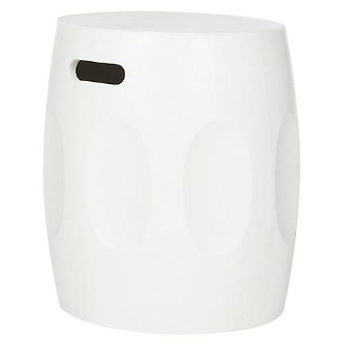Burns Outdoor Side Table, Ivory