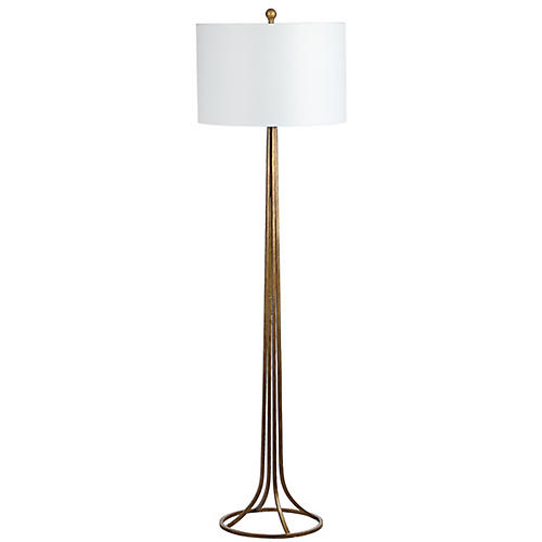 Fiallo Floor Lamp, Antiqued Bronze