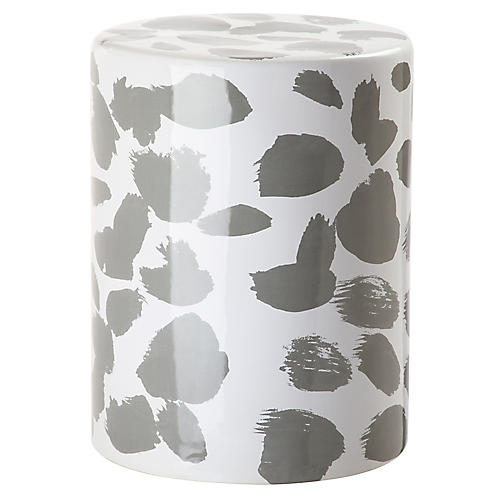 Tilda Garden Stool, Gray/White