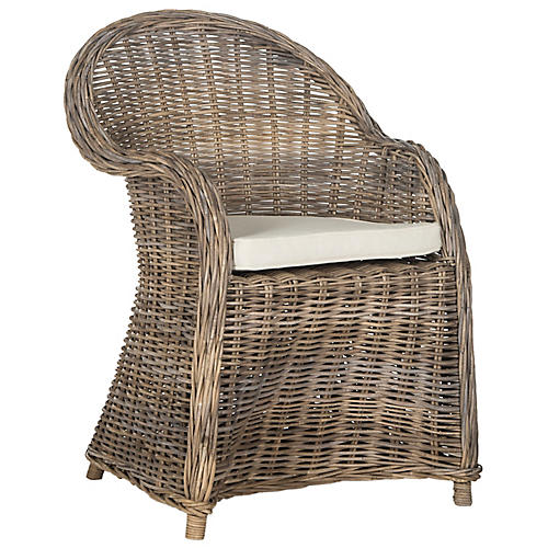 Zane Accent Chair, Natural
