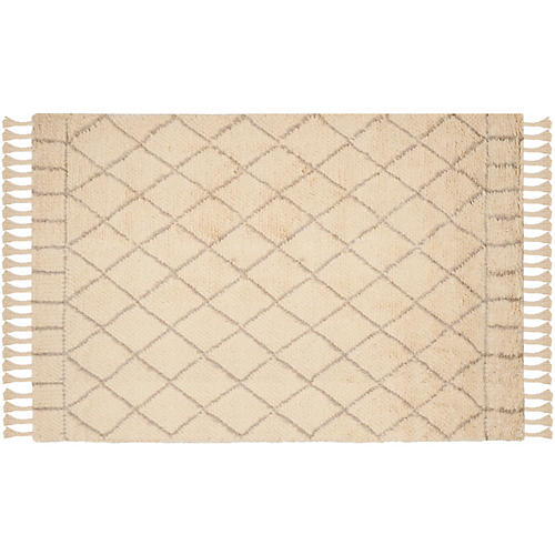 Hoyne Rug, Ivory/Light Gray