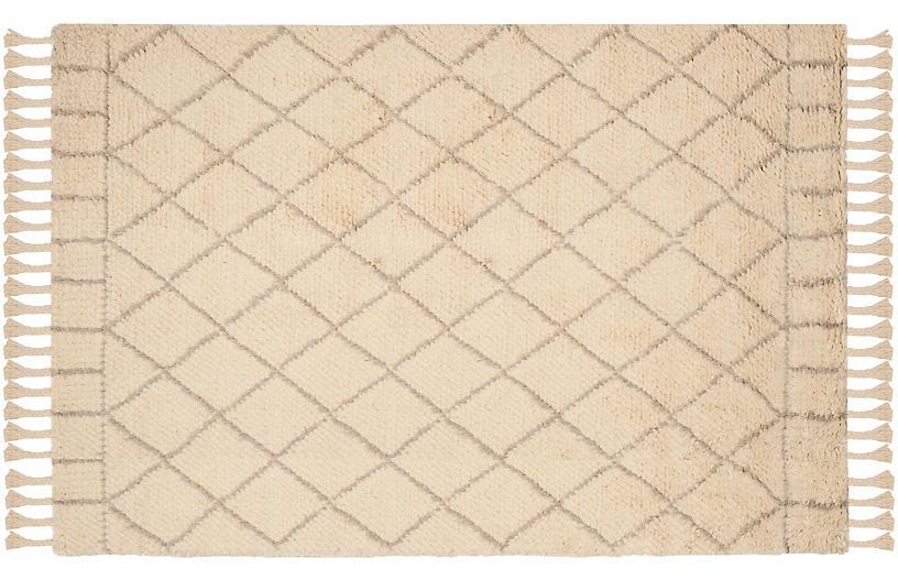 Hoyne Rug, Ivory/Light Gray