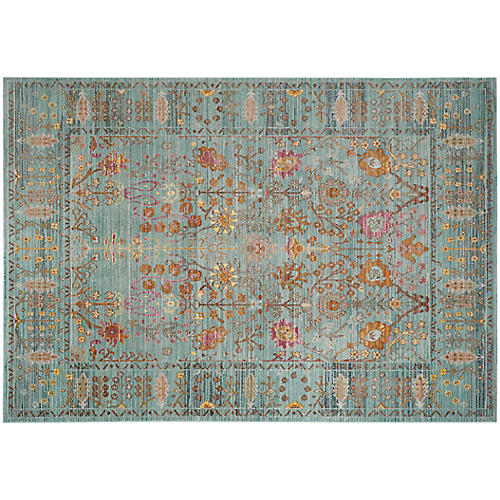 Boullee Rug, Steel Blue