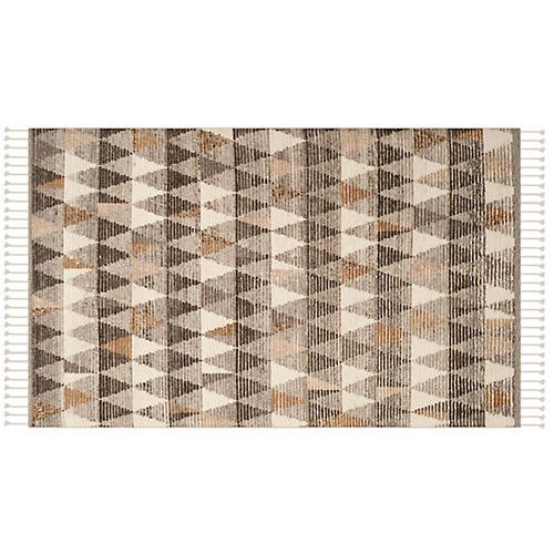 Peyto Hand-Knotted Rug, Ivory/Multi