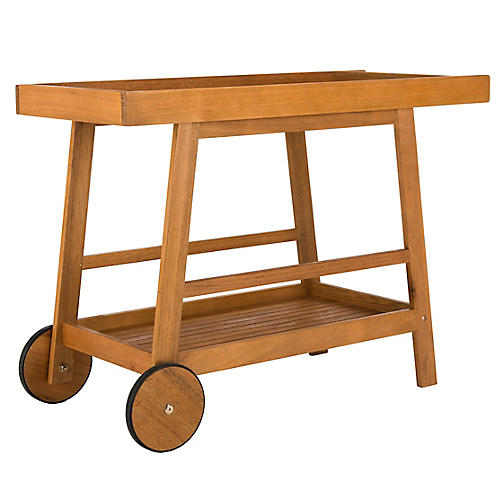 Renzo Bar Cart, Eucalyptus