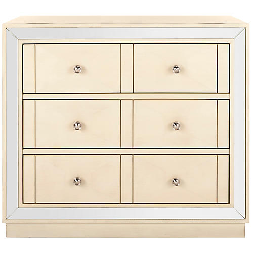 Salem Dresser, Antiqued Beige