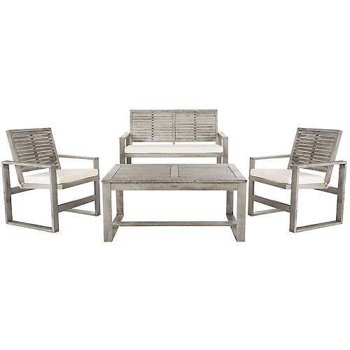 Ozark Lounge Set, Graywash