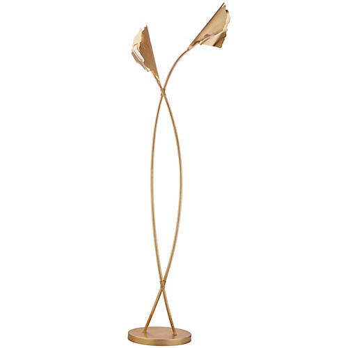 Hayward Floor Lamp, Gold Leaf