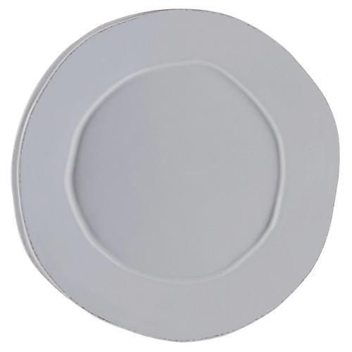 Lastra Round Platter, Gray